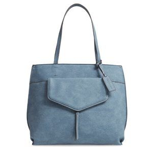 SOLE SOCIETY Lyndi Faux Leather Tote Blue